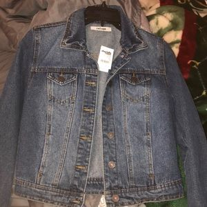 Dark blue jean jacket from Charlotte Russe